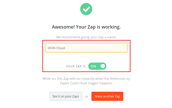 Step 22. Finish the Zap - IXON Cloud integration
