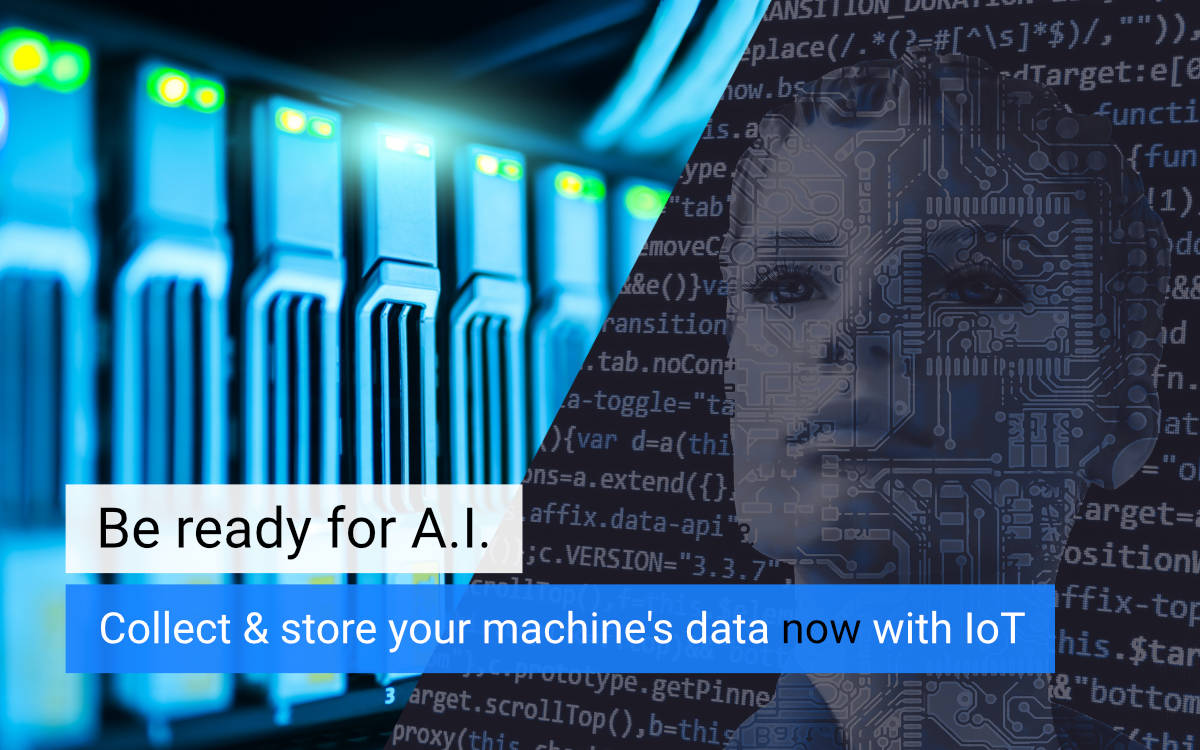 Be ready for Artificial Intelligence using Industrial IoT - Collect machine data with IXON Cloud