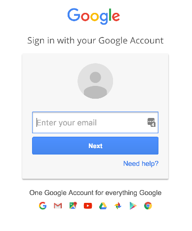 Step 15. Login with Google account - IXON Cloud integration