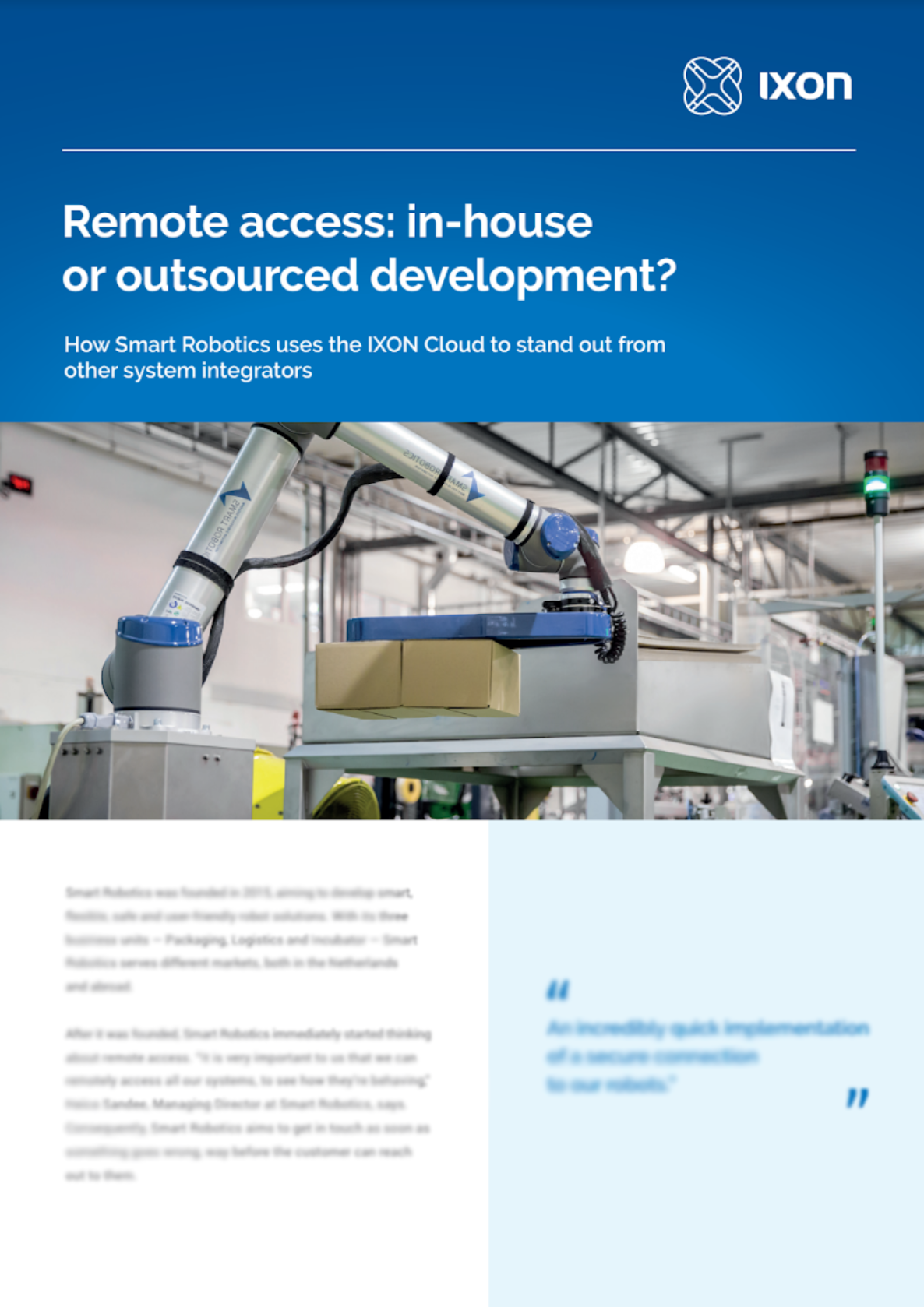 Case study Smart Robotics & IXON Cloud
